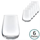 Grassl Glass Elemental Series Stemless All-Round Red & White Wine / Water Glass - Set of 6