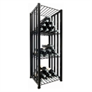 VintageView Free Standing Case & Crate Bin 48 Wine Bottle Storage - Black