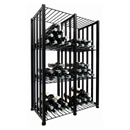 VintageView Free Standing Case & Crate Bin 96 Wine Bottle Storage - Black