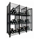VintageView Free Standing Case & Crate Bin 144 Wine Bottle Storage - Black