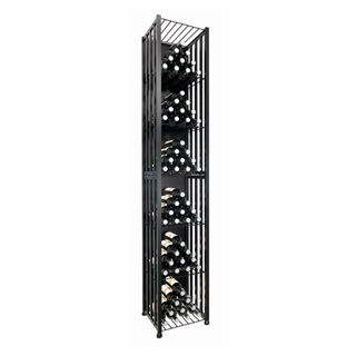 VintageView Free Standing Tall Case & Crate Bin 96 Wine Bottle Storage - Black