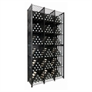 VintageView Free Standing Tall Case & Crate Bin 288 Wine Bottle Storage - Black