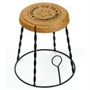 XL Giant Champagne Cork Wire Cage Side Table - Black