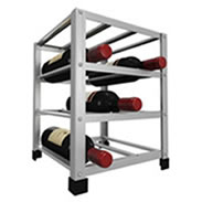 Freestanding metal wine rack