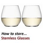 How to Store Stemless Wine Glasses
