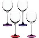 LSA Coro Wine Glasses 400ml Berry Assorted - Set of 4